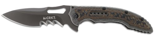 Columbia River Knife and Tool (CRKT) Columbia River Knife and Tool's 5471K Ikoma Fossil Veff Serrated Edge Knife