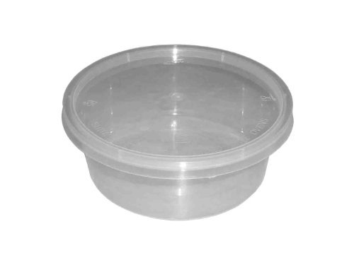 250 Round 10Oz Plastic Clear Microwave/Oven Safe Storage Containers Baby Food