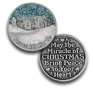 Pocket Token Peace on Earth Colored Enamel Pocket Token - Momento Symbolic Coin Gift PT619 by Pocket Token
