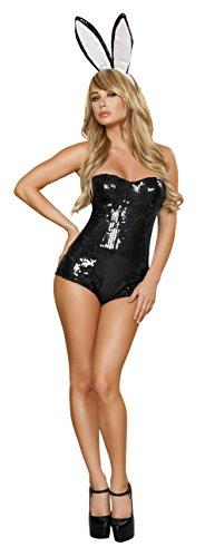 [Sexy Women's 2pc Ravishing Black Rabbit Bunny Costume (L)] (Ravishing Rabbit Sexy Costumes)