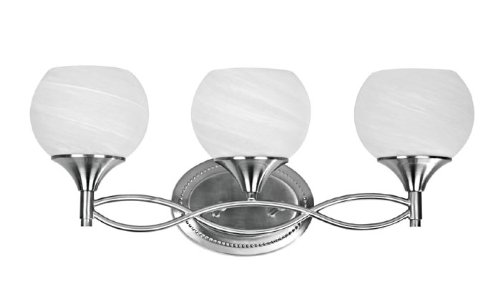 Portfolio 3 Light 22 In Brushed Nickel Bowl Vanity Light: Chloe Lighting CH0185-BN-BL3 Transitional 3-Light Brushed