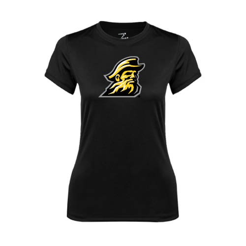Appalachian State Ladies Syntrel Performance Black Tee 'Yosef' erskine ladies syntrel performance white tee official logo