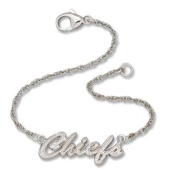 Kansas City Chiefs NFL Sterling Silver Script Bracelet