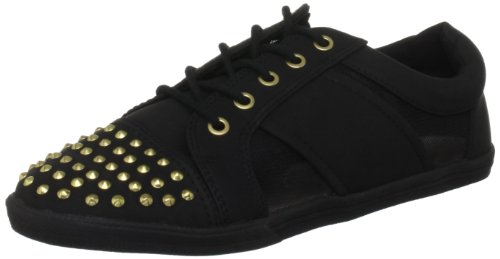 Miss KG Women's Lamb Black Lace Ups Trainers
