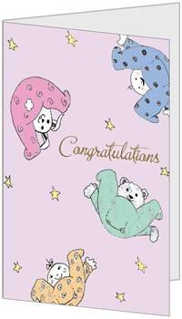 Congratulations Baby Child Birth 5x7 Greeting