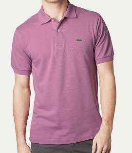 Lacoste Short Sleeve Classic Pique Polo : Vintage Purple (Size S/EUR 4)