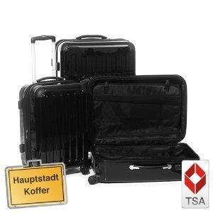 3er Kofferset Hartschale Trolley schwarz-Hochglanz