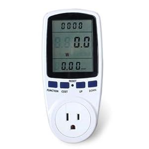 riorand digital lcd electricity usage monitor watt voltage