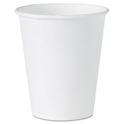 White Paper Water Cups, 4oz, White, 100/Pack, Sold as 1 Package