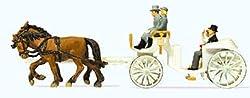 Original Preiser 1/87 Hochzeitskutsche Offen Wedding Coach Open Carriage 30496