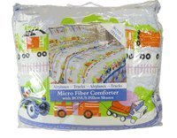 Kids Bedding-Airplanes-n-Trucks Micro Fiber Comforter with Sham