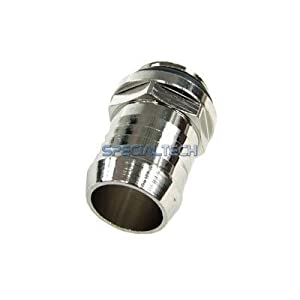 "1/4"" Thread High Flow Barb Fitting for 1/2"" (13mm) ID Tubing : Silver"