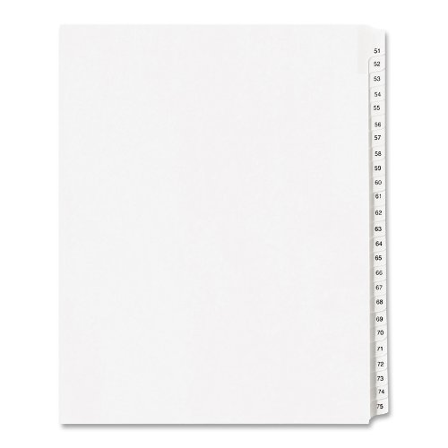allstate-style-legal-side-tab-dividers-25-tab-51-75-letter-white-25-set-sold-as-1-set