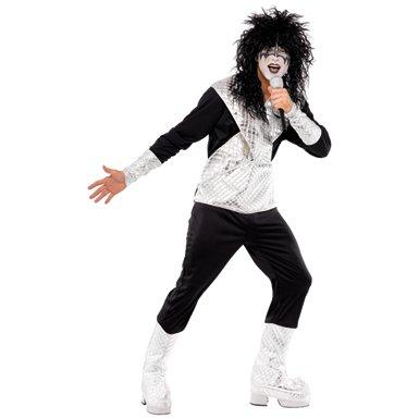 Mens 70's Rocker KISS Jumpsuit Halloween Costume