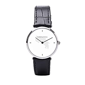 Dr. Koo Modern Handmade Leather Watch Costa Rican Mens Watch Leather