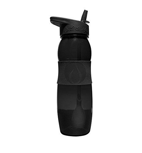 Black - 26oz Refresh2go Curve Water Filter Bottle with Grip (Black Filter Water Bottle compare prices)