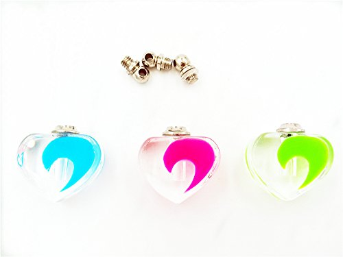 16*15mm Luminous glow in the dark screw cap crystal charms , glass vial pendant perfume bottles -10pcs (Crystal Vial compare prices)