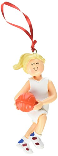 Female Blonde Basketball Figurine