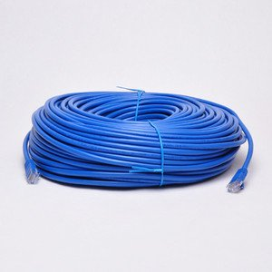 New 200ft 60m Blue 200' Ft Rj45 Cat6 Cat6e Ethernet Lan Network Internet Computer