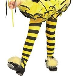 Rubies Striped Child Bumble Bee Tights front-1042832