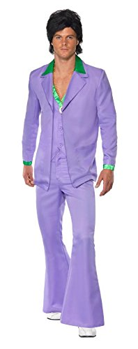 Smiffy's Men's Lavender 1970's Suit Costume Jacket