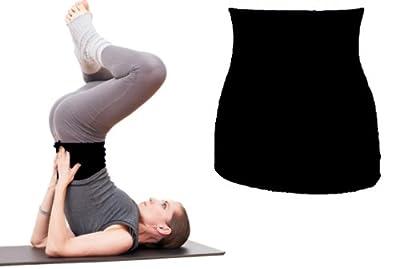 Joga Bekleidung - Shirtverlängerer für Damen / Herren / Kinder Baumwolle Shirt Baumwolle schwarz uni