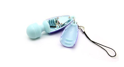 Mini Electronic Vibrating Massage Stick W/ Keychain-Blue + Purple - (Premium Quality)