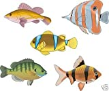 Smarts-Art Tropical Fish Stickers X 5 Set F2 Bathroom Tiles