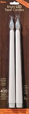 Darice LED Taper Candle 2-Pack White 11