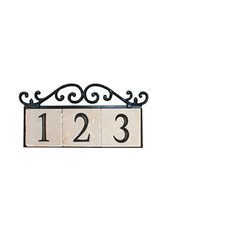 nach ka old world 3 house address number sign plaque home