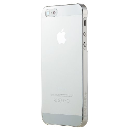Simplism iPhone 5 透明ハードカバーセット 極限の薄さと軽さ 0.4mm / 5g クリア TR-UTIP12-CL