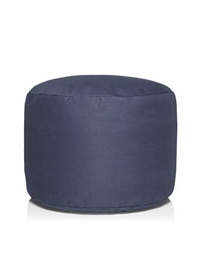 Famous Beanbag Maker Ottoman Beanbag, Blue