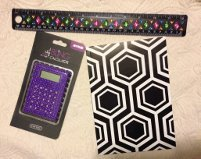 Bling Calculator & Ruler With Small Notebook - Colors Vary - Cool, Cute, Great Reward