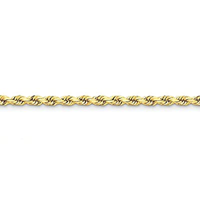 14k Gold 5mm D/C Rope with Lobster Clasp Chain 9 Inches
