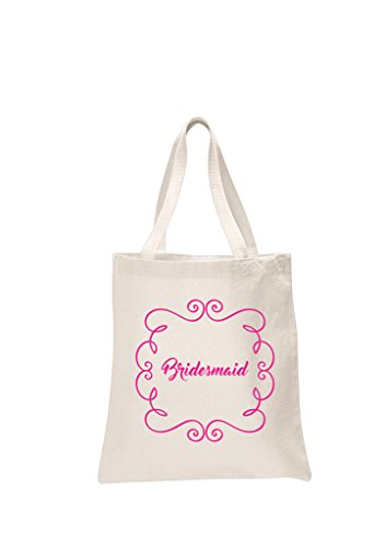 3 x Bridesmaid Natural Bridal Printed Wedding Favour Tote Bags bride hen party gift sets