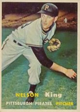 1957 Topps Regular (Baseball) Card# 349 Nelson King of the Pittsburgh Pirates ExMt... by Topps