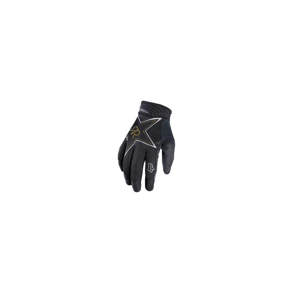 Fox Racing Airline Gloves   Rockstar Black Automotive