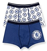2 Pack Cotton Rich Chelsea Football Club Trunks