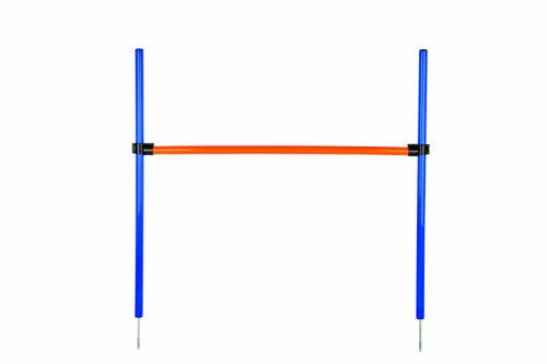 Bild von: Trixie 3207 Dog Activity Agility Hürde, 123 × 115 × ø 3 cm, blau/orange