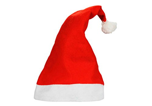Red Santa Claus Plush Christmas Party Hat Holiday Costume Caps Adult Headgear