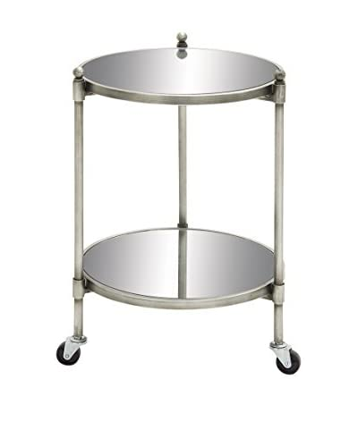 UMA Metal Glass 2-Tier Trolley, Silver