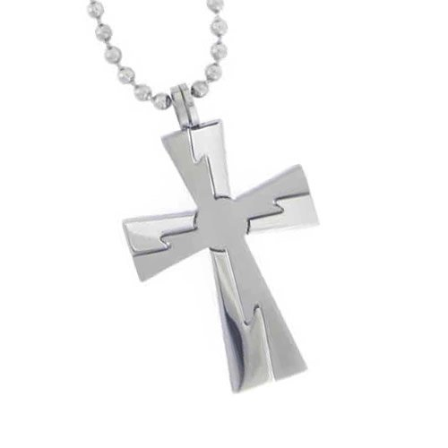 Christian Unisex Stainless Steel Abstinence Jagged