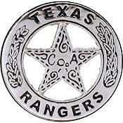 Metal Lapel Pin - Law Enforcement Pin - Police Badge - Rangers, Texas