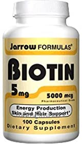 Biotin 5 mg 100 Capsules by Jarrow Formulas