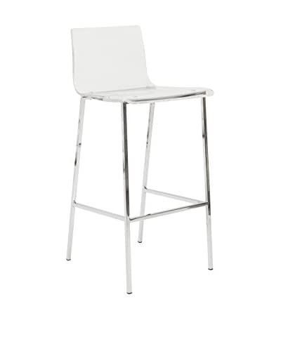 Eurostyle Chloe Bar Stool, Clear