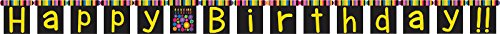 Creative Converting Birthday Cake Dots Jointed Banner, Large, Multicolor