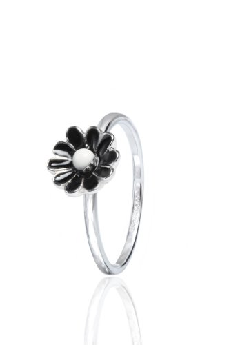 Stack Ring Co, Ebony, Freedom Collection, .925 Sterling Silver, Rhodium Plated, Size 8