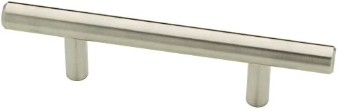 Franklin Brass P15510K-SS-B Euro Style Steel Bar Pull Cabinet Handle, 3-inch (25 Pack)