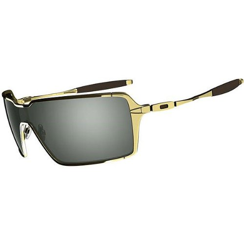 Oakley Probation Men's Lifestyle Race Wear Sunglasses – Color: Polished Gold/Grey