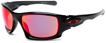 Oakley Men's Ten Polarized Rectangular Sunglasses,Black Ink Frame/Oo Red Iridium Lens,one size